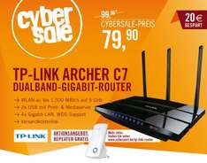 TP-Link Archer C7 AC1750 + TP-LINK TL-WA854RE Universeller 300MBit-WLAN-n Repeater für 79,90€ @ Cyberport