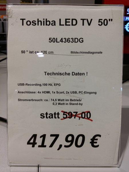 "[Lokal - HH] 50"" Toshiba 50L4363DG"