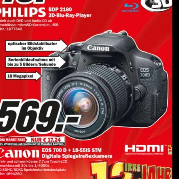 Lokal mediamarkt weiterstadt - Canon eos 700d inclusive 18-55 is STM für 569€