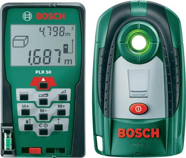 Bosch PLR 50 -Entfernungsmesser 50 m & + PDO 6 Ortungsmessgerät