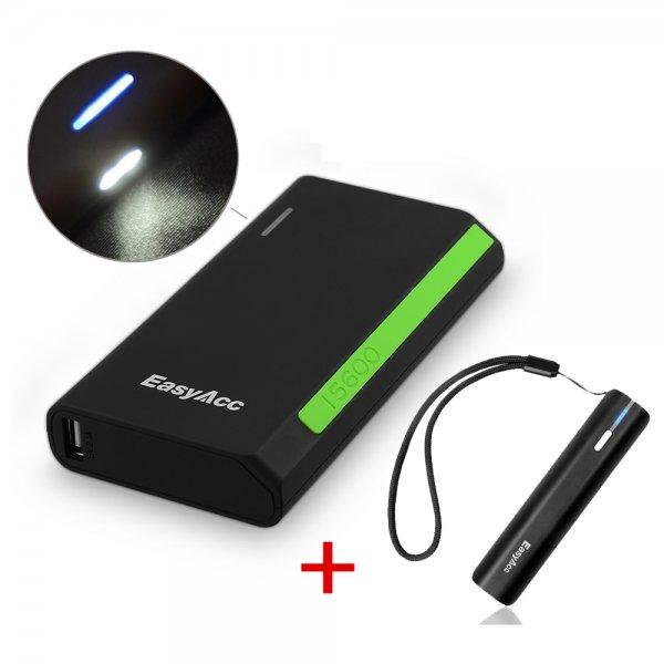 EasyAcc® 15600mAh und 3000mAh PowerBank für 29,99 € und 11,99 €. Die beiden für 39,99 €