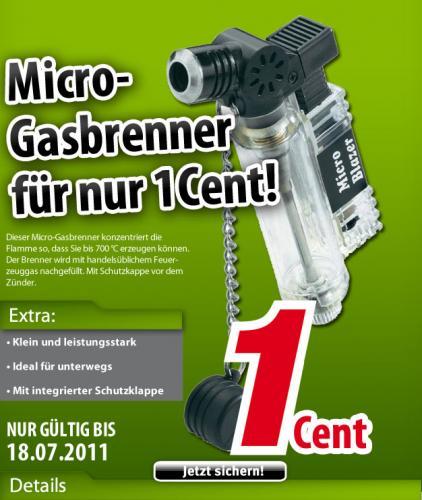 VOELKNER Gaslötgerät Mini Gasbrenner 700 °C für 0,01€ + 5,95€ Versandkosten