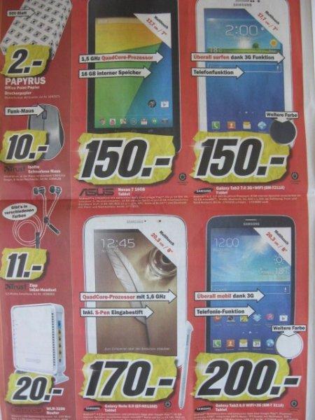 Lokal: MM Waiblingen: Samsung Galaxy Tab3 8.0 Wifi + 3 3G