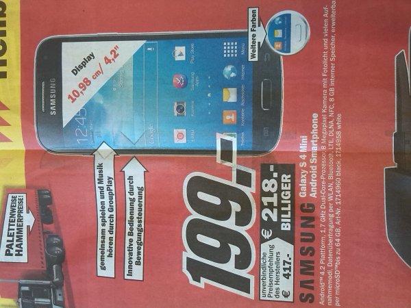 MediaMarkt Heilbronn S4 Mini 199€