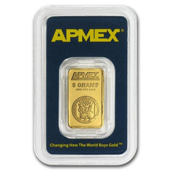 APMEX Goldbarren, 5 Gramm, Feinheit: 999,9/1000