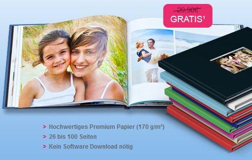 Derzeit günstigstes Fotobuch Angebot für 26 Seiten A4 Hardcover 170g/m²  5,90 €