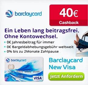 [Qipu] 40€ Cashback für die Barclaycard New Visa