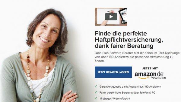 10 € Amazon Gutschein für den Vergleich und Abschluss einer Haftpflichtversicherung bekommen