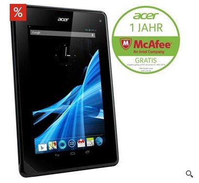 Acer B1-710 inkl. Schutzhülle Tablet-PC, Android 4.1.2, MediaTek 1,2 GHz Dual-Core, nur für 88€(Sie sparen € 48,90 bzw. 36%)