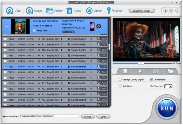 Letzten drei Tage:  WinX DVD Ripper Platinum 7.5.5 Giveaway