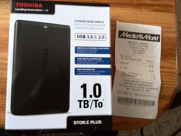 [Lokal] Toshiba STORE.E PLUS 1 TB  MM München Drygalski-Allee