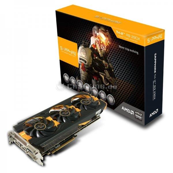 Sapphire Radeon R9 290X Tri-X OC leise und sehr schnelle High-End-Grafikkarte ~20 Euro Ersparnis bei Caseking