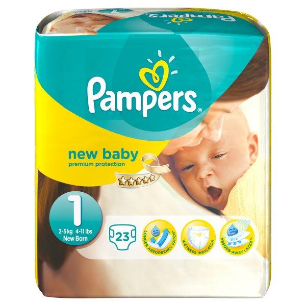 Pampers z. B. New Baby Gr. 1 2 x 23 Stück bei DM
