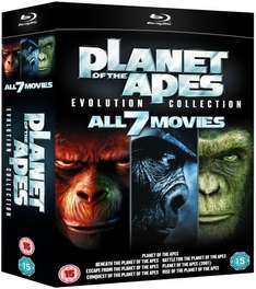 "[zavvi.es u. zavvi.nl] Planet der Affen [Blu Ray] ""Evolution Collection"" (7 Discs) für 21,09 €"