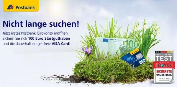 Postbank Happy Hour: 100€ Startguthaben für Girokonto Eröffnung