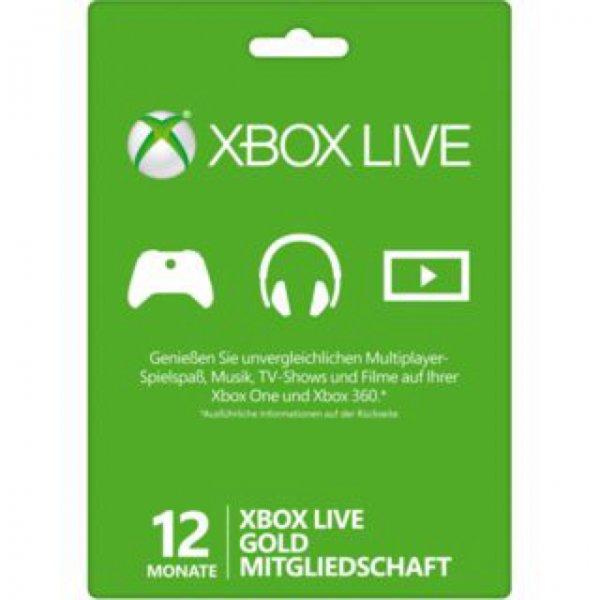 (Nur bei Abholung im Markt)12 Monate Xbox Live gold für 29€ Bei Mediamarkt.de