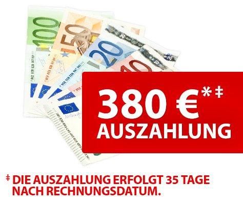 Vodafone original Datenflat mit 380,-- Auszahlung