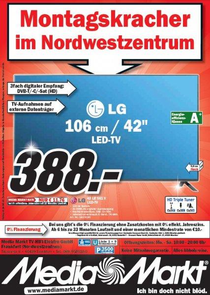 LG 42 LB 561 V für 388,- Montagskracher im MM Frankfurt Nordwestzentrum 28.04.2014