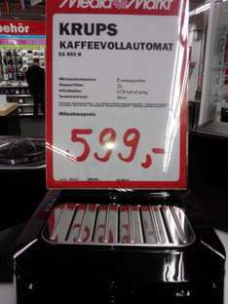 [Lokal MM Krefeld] Krups EA850B 250€ unter Idealo.de