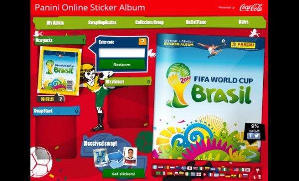 Codes für Free-Packs für das Panini Wm 2014 Online-Stickeralbum+Neuer Code!