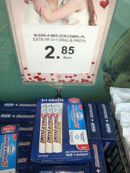 [MÜLLER] 3x 75ml Blend-a-Med Complete Plus Weiss + 1x 75ml Pro Expert gesundes Weiss für 2,48€ - Günstiger als Rossmann!