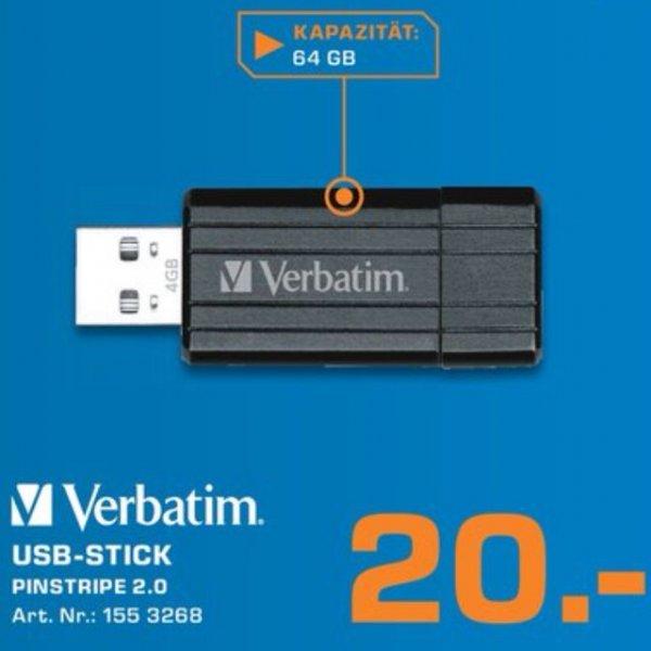 [Lokal Saturn Baunatal] Verbatim 64GB USB-Stick für 20 Euro