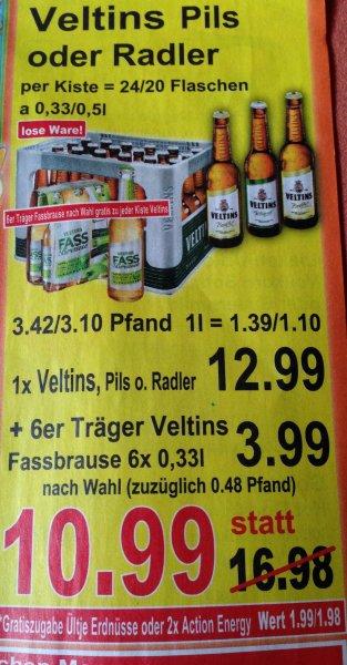 Kiste Veltins + 6x Veltins Fassbrause + Nüsse/Energy [LOKAL K+K Märkte]