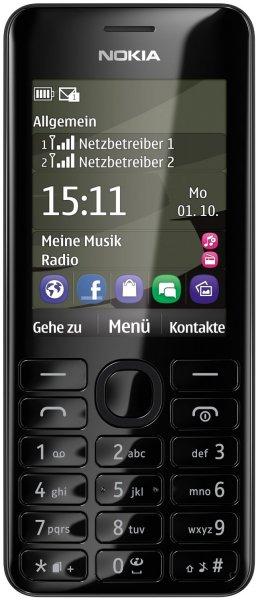 Nokia Asha 206 Dual Sim für 25,9 € anstatt 46,95 € € mit monatlich Kündbaren Vertrag [Handyflash]