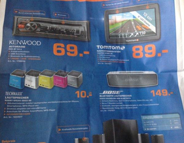 Bose 60933  Soundlink Mini 149€, Technaxx Speaker 10€ Lokal?