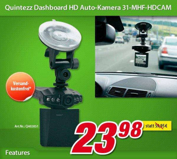 Quintezz HD Dashboard Camera 31-MHF-HDCAM für 23,98 € @ voelkner.de