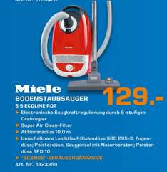 Miele S5 EcoLine 1200W red für 129€ Lokal [Saturn Kleve]