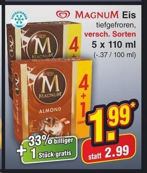 [Netto] Langnese Magnum Eis 4+1er Pack 550ml für 1,99 Euro ab 30.04.2014