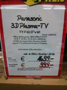 "[Lokal Media Markt Essen] Panasonic 55"" Stw 60"
