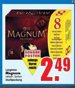 Hannover EDEKA-Center Langnese Magnum Eis 8er Pack 880ml für 2,49 Euro ab 28.04.2014