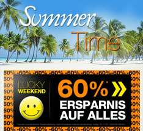 LUCKY WEEKEND @dress-for-less.de: 60% Ersparnis auf alles!
