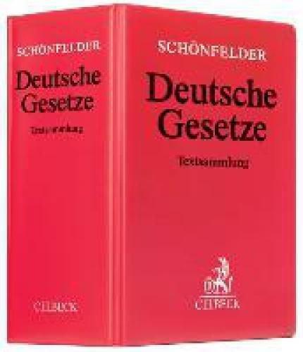 Für Juristen: Schönfelder - Deutsche Gesetze inkl. 156. Ergänzungslieferung