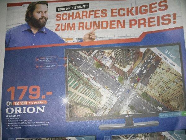 [lokal] SATURN Chemnitz LED-TV ORION CLB32B750S mit Triple-Tuner