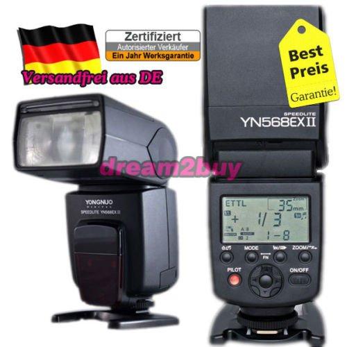 Yongnuo YN-568 EX II  für Canon EOS  133,99 EUR inkl. Versand