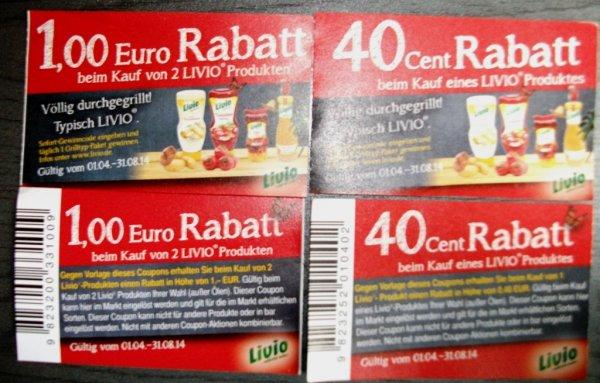 Livio Produkte 0,40 € oder 1,00 € Rabatt bei V-MArkt München Nord