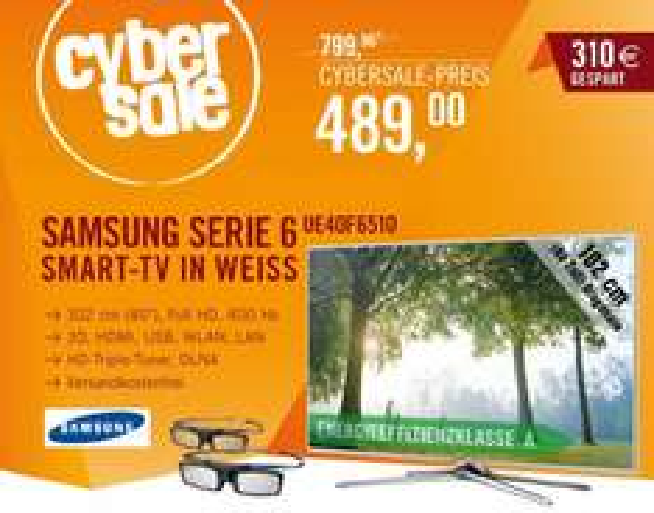 Samsung UE40F6510 für 489,00€ @ Cyberport