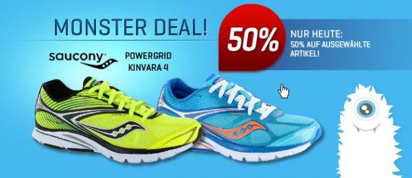 -50% Saucony PowerGrid Kinvara 4 - statt 124,95 für 62,48 bei www.21run.com. + Versandkostenfrei