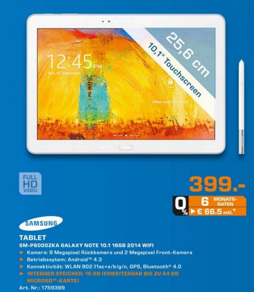 Samsung Galaxy Note 10.1 16GB WiFi weiß für 399€ Lokal [Saturn Ludwigshafen]