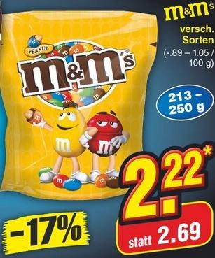 [NETTO] M&Ms versch. Sorten für 2,22 Euro