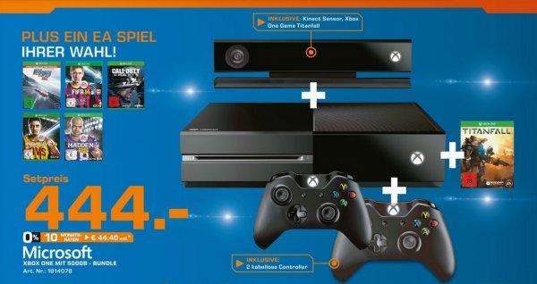 XBOX One Bundle + Controller inkl. Titanfall + 1 EA Spiel der Wahl für 444€ Lokal [Saturn Leverkusen]