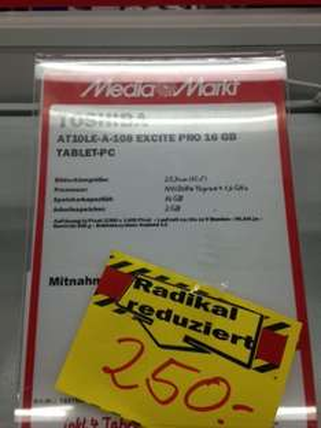 [LOKAL] Toshiba AT10LE-A-108 Exite Pro 16 GB Tablet  @ MediaMarkt Greifswald