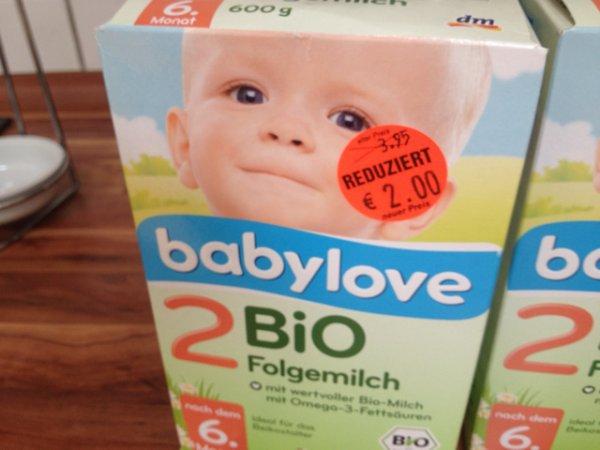 babylove Bio-Folgemilch 2 -> 50% reduziert