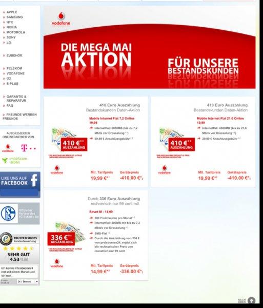 Preisbörse24.de Bestandskunden 3DEAL z.B. VF Smart M f. rechnerisch 0,99 €/Monat