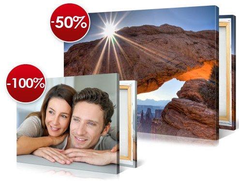 Picanova Leinwände: 50% Rabatt auf das erste + zweite günstigere Leinwand kostenlos!