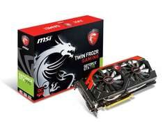 MSI Garfikkarte GeForce GTX770 Twin Frozr Gaming - 2 GB GDDR5 - PCI Express 3.0 + Adapter DVI