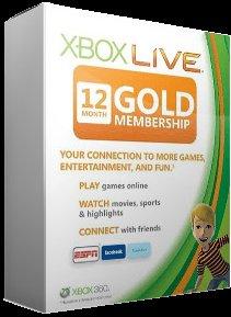 Xbox Live 12 Monate Gold 29,00€
